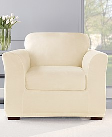 Stretch Plush 2-Piece Chair Slipcover