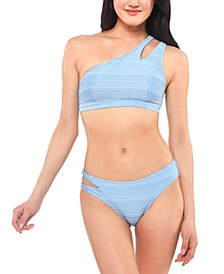 Ribbed One-Shoulder Bikini Top & Bottoms