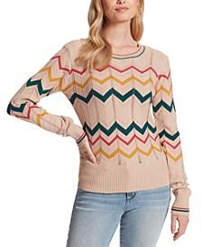 The Marcelina Chervron Sweater