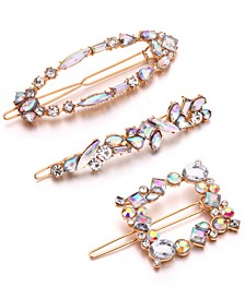 INC Gold-Tone 3-Pc. Set Embellished Hair Clips, Created for Macy's