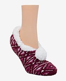CuddlDuds Sherpa Lined Ballerina Slipper Socks