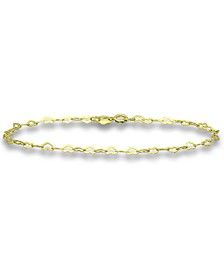 Heart Link Chain Bracelet in 18k Gold-Plated Sterling Silver, Created for Macy's