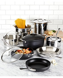 Mixed Materials 12-Pc. Cookware Set