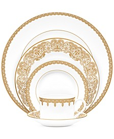 Lismore Lace Gold 5 Piece Place Setting