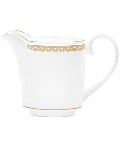 Waterford Lismore Lace Gold Creamer