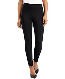 INC Front-Zip Ponté-Knit Leggings, Created for Macy's