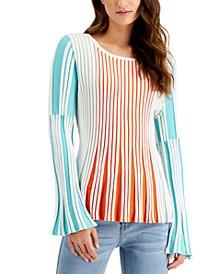 Striped Peplum Sweater