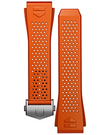 Men's Connected Interchangeable Orange Rubber Strap Watch 45mm