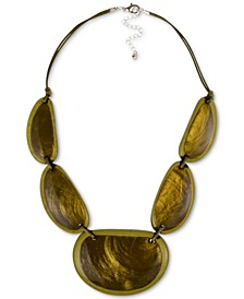 "Resin Statement Necklace, 21-1/2"" + 3"" extender, Created for Macy's"
