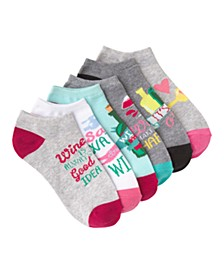 K. Bell Women's Wine Time Ankle Socks Six Pair Pack