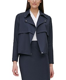 Cropped Open-Front Jacket