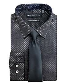 Men's Modern Fit Dress Shirt and Tie Set
