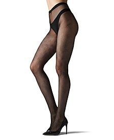 Women's Diamond Geo Net Tights Hosiery