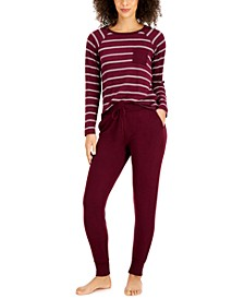Hacci Sleep Top & Jogger Pajama Pants Collection, Created for Macy's