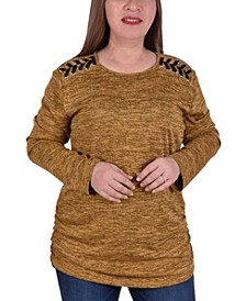 Women's Plus Size Plus Size Scoop Neck Pullover Top