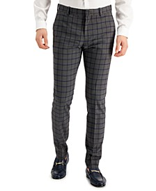 Men's Skinny-Fit Non-Iron Performance Stretch Pattern Dress Pants
