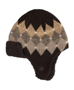 Isotoner Men's Lined Argyle Trapper Hat