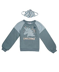 Big Girls Unicorns Sweater and Matching Mask