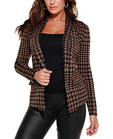 Women's Black Label Houndstooth Sweater Blazer