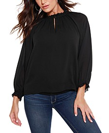 Black Label Blouson Chiffon Top
