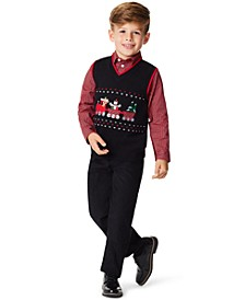 Little Boys Holiday Train 3 Piece Sweater Set