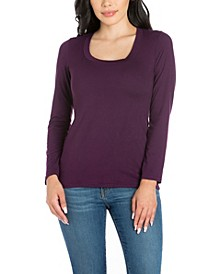 Women's Solid Scoop Neck Women's Tee