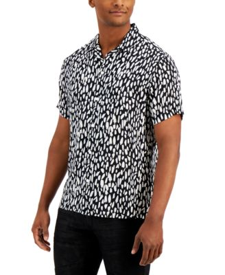 INC Men's Brush Ditsy Print Shirt, Created for Macy's