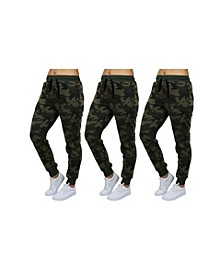 Women's Loose Fitting French Terry Jogger Lounge Pants 3 Pack