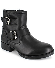 Women's Elicia Moto Buckle Leather Booties
