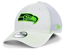 Seattle Seahawks White Team Color Tonal Neo 39THIRTY Cap