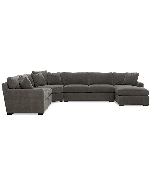 Fine Radley 5 Piece Fabric Chaise Sectional Sofa Created For Macys Pabps2019 Chair Design Images Pabps2019Com