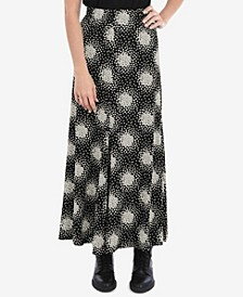 Mono Scatter Heart Jersey Pull on Skirt