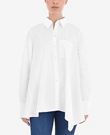 Women's Asymmetric Button Down Shirt