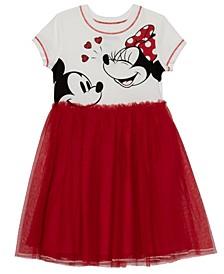 Toddler Girls Laugh a Lot Dress with Mesh Skirt