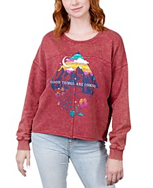 Juniors' Good Things Are Coming Graphic Sweatshirt