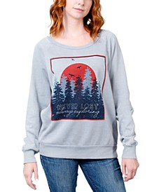 Juniors' Never Lost Always Exploring Graphic Sweatshirt