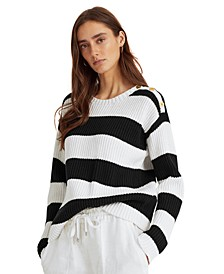 Petite Striped Sweater