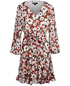 INC Belted Floral-Print Fit & Flare Dress, Created for Macy's