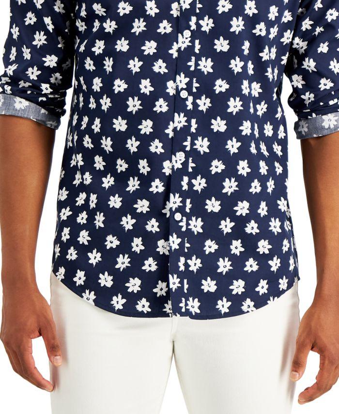 INC International Concepts INC Men's Daisy Print Shirt, Created for Macy's & Reviews - Casual Button-Down Shirts - Men - Macy's