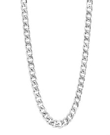 """EFFY® Men's Curb Link 22"""" Chain Necklace in Sterling Silver"""