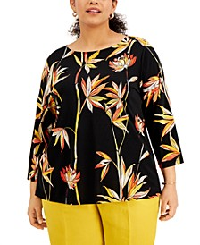 Plus Size Printed Tunic