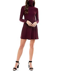 Juniors' Turtleneck Dress