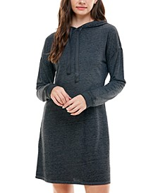 Juniors' French Terry Hoodie Dress