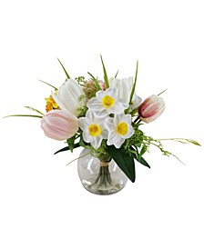 Tulip Daffodil Centerpiece, Created for Macys