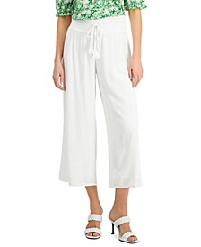 INC Crinkle-Gauze Cropped Wide-Leg Pants, Created for Macy's