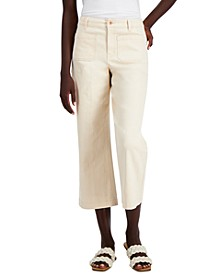INC High-Rise Patch-Pocket Crop Jeans, Created for Macy's