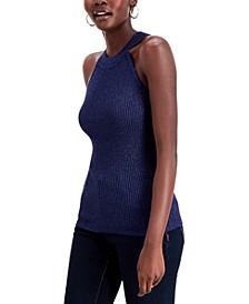INC Metallic Halter-Neck Sweater, Created for Macy's