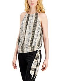 INC Printed Tie-Waist Top, Created for Macy's