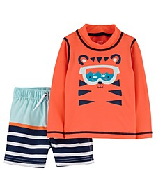 Baby Boys Tiger Rash Guard Set