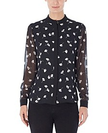 Long Sleeve Print Blouse